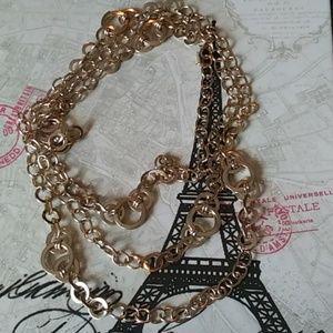 Natasha XL Chain Necklace Gold Tone
